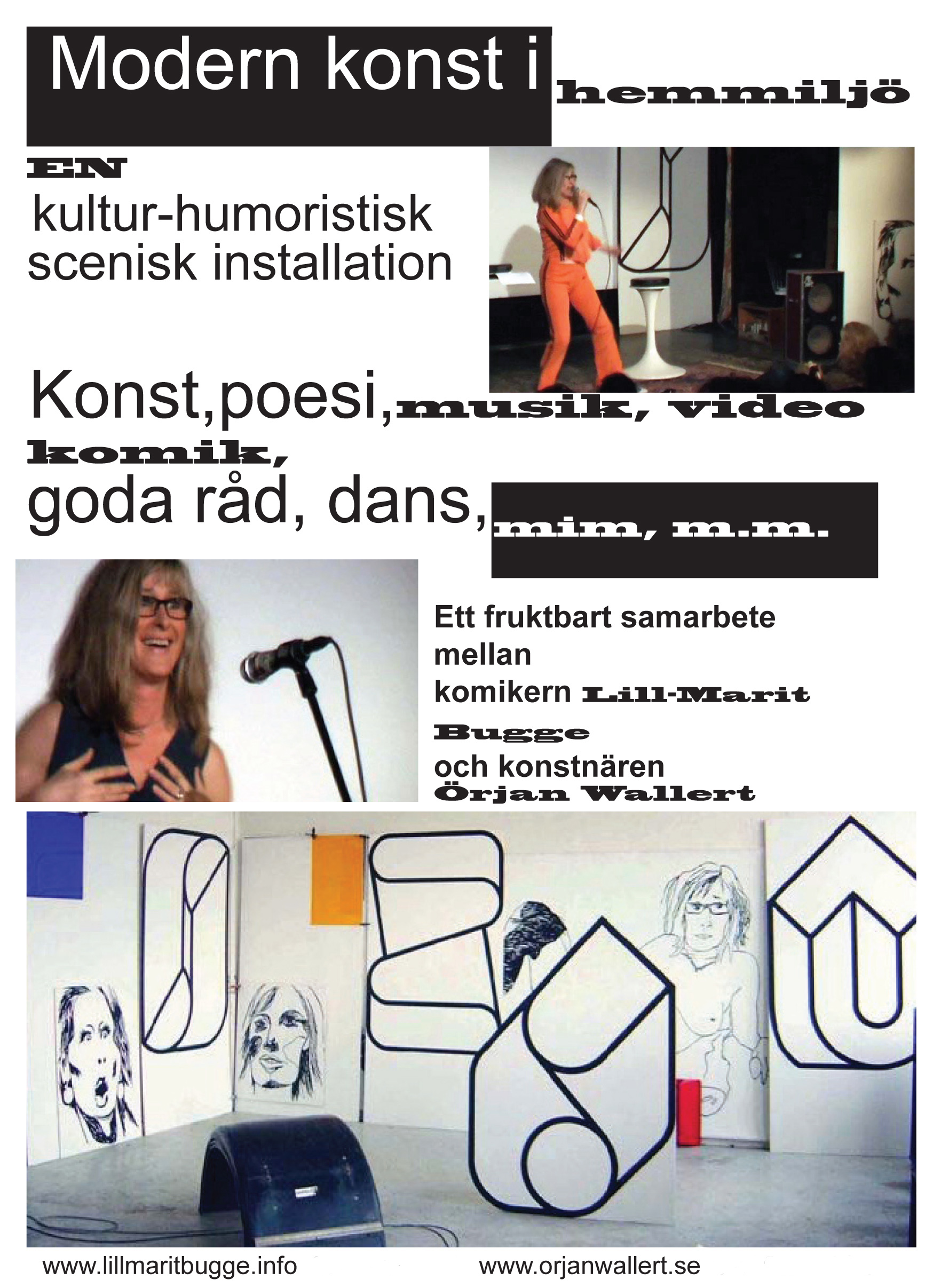 Flyer for the show An exceedingly evening Modern art in domestic at the cinema theatre Tellus